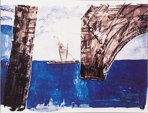 Fischerboot mit Tour Eiffel, 1998