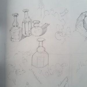 Skizze Flaschen 1994